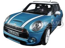2015 MINI COOPER S LIGHT BLUE/ WHITE 1/18 MODEL CAR BY NOREV 183111