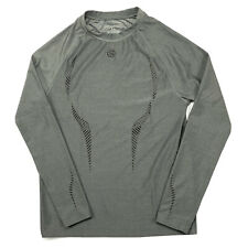 Skins DNAmic Mens Long Sleeve Gray Compression Athletic Shirt Size XL