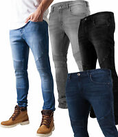443a7c9f0a14 Urban Classics Herren Jeanshose Slim Fit Chino Jeans Hose Biker Trend Bad  Boy