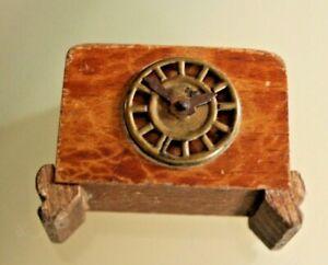 Spielzeug Holz Antik Pendeluhr Miniatur Jahre 50 Haus Puppe