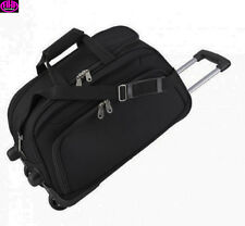 Reisetasche mit Rollen Polyester schwarz  excl. Marke EuroStyle