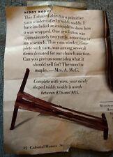 Antique Niddy Noddy Handmade Wooden Yarn Winder 7409