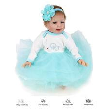 Realistic Reborn Baby Dolls Gift Soft Vinyl Silicone Lifelike Newborn Girl Doll