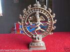 Vintage Solid Brass Hindu Tribal Dancing God Shiva Natraj Statue Figurine  05