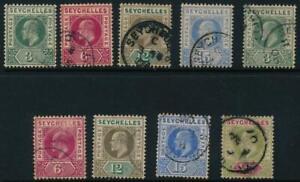 Seychelles 1903-1906 SG 46...65 used cat. £25
