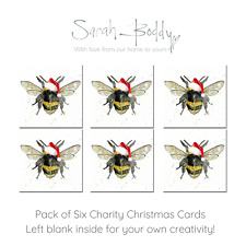 Bee Charity Christmas Card *Premium Charity Christmas Card* Watercolour Art Card
