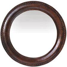 Big Round Hammered Copper Mirror