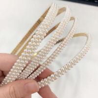 Ladies Pearl Headband Hairband Crystal Head Band Hair Hoop Accessories