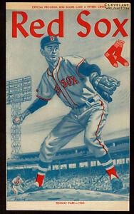 1960  BOSTON RED SOX vs CLEVELAND INDIANS  2 ND GAME  baseball program 6 /8