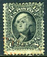 USA 1861 Washington 12¢ Black Scott 69 VFU S555