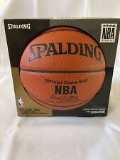 "Spalding Official Nba Game Basketball, ""Indoor Play Only"", Leather, David Stern"