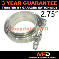 """V-BAND CLAMP + FLANGES COMPLETE STAINLESS STEEL EXHAUST TURBO HOSE 2.75"""" 70mm"""