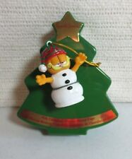 vintage garfield Christmas snowman ornament w russell stover Christmas tree box