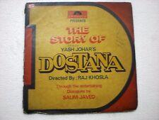 DOSTANA (STORY) 2 DISC LAXMIKANT PYARELAL 1980  RARE LP BOLLYWOOD VG+