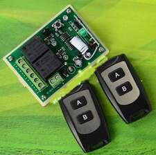 12V 2CH 200M Wireless Remote Control Relay lamp Switch Transceiver + Receiver
