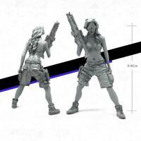 1/35 Resin Figure Model Kits YUFAN Bikini Set Women Soldier