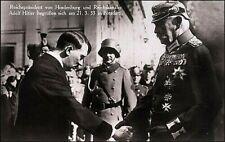 WW1 WW2 GENERAL FELDMARSCHALL VON HINDENBURG C-I-C GERMAN ARMY REICHS PRES.CERT.