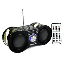 Digital Speaker FM Stereo Radio USB Rechargeable MP3 Music Player Remote Control