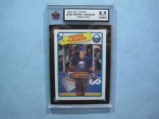 1988/89 TOPPS NHL HOCKEY CARD #194 PIERRE TURGEON ROOKIE KSA 8.5 NM/MINT 88/89