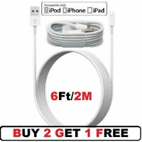 6FT/2M USB Cable For Original iPhone 6 7 8Plus iPhone Xs XR 11 Lightning Charger