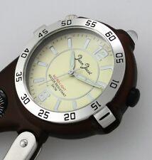 JEAN JACOT Taschenuhr/Gürteluhr mit Licht - Lupe - Kompass - Karabiner UVP 59,90