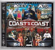 CD RAP AMERICAIN / DJ KEEF & DJ L.A.$ COAST II COAST VOL.6 OFFISHALL DEEJAY Z
