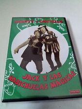 """DVD """"ABBOT Y COSTELLO JACK Y LAS HABICHUELAS MAGICAS"""" COMO NUEVO"""