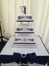 Our stunning silhouette Bride & Groom outline Wedding cake Toppers