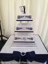 Nuestra silueta impresionante Novia Novio Boda Cake Toppers Contorno &