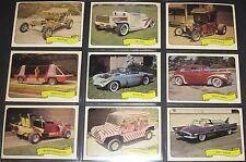 KUSTOM CARS George Barris © 1975 Fleer's Complete 39 Sticker Set (Green Hornet)