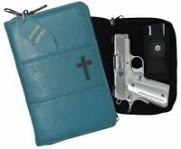 Garrison Grip Quality Leather Concealed Carry Bible Gun Case Glock Ruger - TURQ