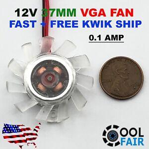 12V 37mm PC VGA Video Card Cooling Fan Heatsink Cooler Replacement 2Pin