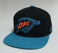 Oklahoma City Thunder Black & Teal Adidas Hat NBA Basketball Snapback OKC