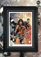 💎JUSTICE LEAGUE BLACK FRAMED GICLEE ON PAPER EXCLUSIVE SIDESHOW ART PRINT💎
