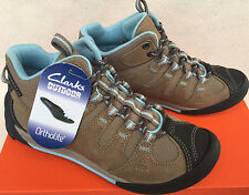 Clarks Outdoor Outlay North 13291 Beige Leather Hiking Shoes Boots Women's 5.5