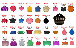 Laser Engraved Personalized Pet ID Tag Dog Cat Paw Tag Free Ship