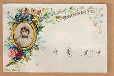 Carte Photo vintage card RPPC portrait fillette souvenir d'école écoliere pz0343