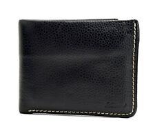 Ashwood Mens Bifold Leather Wallet Black