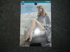 Marks & Spencer Small 15 Denier Navy Shine Tights with Lycra