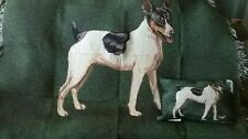 """Rat Terrier"" TapestryThrow & Pillow Set, Linda Picken, Manual Woodworker's"