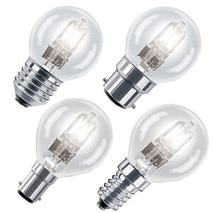 Eco Halogen Energy Saving Golf Ball Light Bulbs B22,E14,B15,E27 in 28w or 42w
