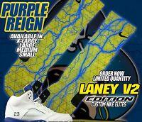 NIKE AIR RETRO JORDAN LANEY Custom Nike Elite Socks (ALL SZ) Maize-Varsity V2