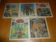 2000 AD Comic - 5 PROG JOB LOT - Progs 295 too 299 Inclusive - UK Paper Comic