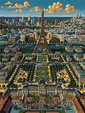 DOWDLE FOLK ART COLLECTORS JIGSAW PUZZLE PARIS 1000 PCS FRANCE EIFFEL TOWER