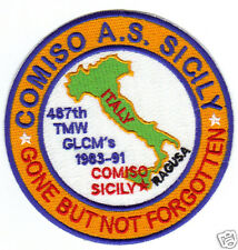 USAF BASE PATCH, COMISO AIR STATION SICILY, GONE BUT NOT FORGOTTEN,         Y