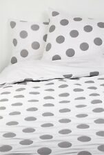 Excellent Condition Country Road Calni Polka Dot Quilt Cover Set - Charcoal