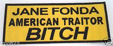 JANE FONDA AMERICA TRAITOR BITCH Military Veteran VIETNAM Patch P2338 E
