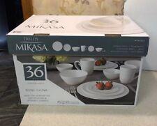 Mikasa Trellis 36-piece Bone China Dinnerware Set, Dishwasher & Microwave Safe