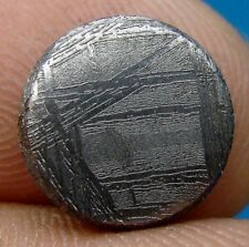 GIBEON meteorite KILLER etched slice 3.02 G. round coin 11x4 mm ETCHED