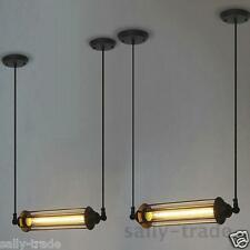 Industrial Vintage Steampunk RH Loft Metal Pendant Light Chandelier Tube Lamp
